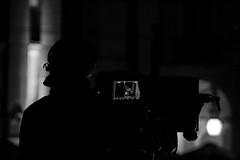 Camera Man (H&T PhotoWalks) Tags: cameraman blackwhite blackandwhite bw lisboa portugal canoneos400d sigma18250 monochrome lowkey lisbon vi
