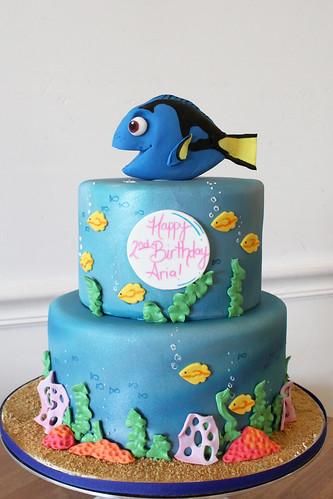 Finding Dory Underwater Birthday Cake