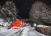Mit dem Schneepfug duch den Schwarzwald ((Mathias Dersch)) Tags: dreiseenbahn schwarzwald schnee seebrugg schneepflug schneeschleuder br218 218329 kiel blitzaufnahme titisee winter nacht villingen