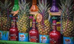 Tropical (tim.perdue) Tags: food festival latino columbus ohio 2017 pineapple juice cocktail mix cans beads drink beverage ingredients strawberry daquiri margarita colada master mixes bottles multicolored colorful festive umbrellas handcrafted 100 fruit alcohol liquor