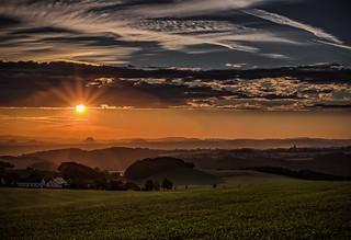 Sunrise over the Saxon Switzerland