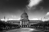 City Hall, San Francisco (King Grecko) Tags: architecture bw cloud government nopeople sky symmetry traveldestinations usa administration black blackandwhite building california cityhall column design geometric politics sanfrancisco texture white