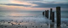 2017 - 12-28 - Widescreen - Moana - Sunset 06.jpg (stevenlazar) Tags: pylons beach ocean sunset australia colour water moana waves jettyruins adelaide 2017 southaustralia clouds
