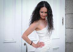 (kathryn_allard) Tags: woman blackhair whitedress long hair femme robeblanche cheveuxlongs people