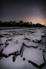 Cracked (MantvydasD Photos) Tags: cracked ce frozen snow nightscape night long exposure winter landscape river