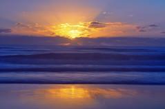 Sun Rise Salt Beach Kingscliff NSW (andrewdavis15) Tags: firstrays rays clouds morning reflections northernnsw northernrivers coast tweedcoast longexposure surf waves water beachsunrise ocean seasunrises beach nsw kingscliff sunrise