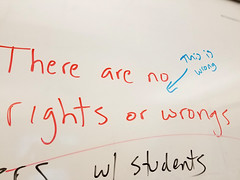 Rights and wrongs (quinn.anya) Tags: whiteboard berkeley ucberkeley right wrong