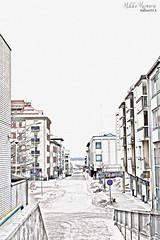 Hometown morning. (53Hujanen) Tags: lappeenranta suomi finland hometown scandinavia skandinavia winter talvi city kaupunki kotikaupunki canon canoneos700d urban landscape maisema maisemakuva pencilsketch digitalart digitalarts photoshop photoshopped