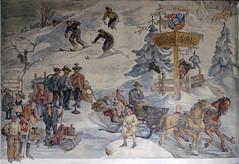 Fresco in Berchtesgaden Railway Station 135a (Andras, Fulop) Tags: germany bayern nikon p7700 alps mountain painting kehlsteinhaus adlerhorst eaglesnest fresco