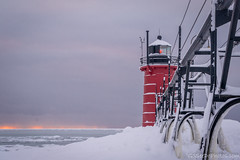 South Haven Lighthouse (Go See Do Photos) Tags: greatlakes lakemichigan ice snow winter lighthouse southhaven