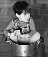 For slow cooking (theirhistory) Tags: boys children kids pot stove cooking jumper