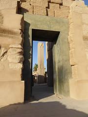 Papyrus Pillars (Blocked by Reconstructed Doorway), Karnak Temple (Aidan McRae Thomson) Tags: karnak temple luxor egypt ancient egyptian ruins