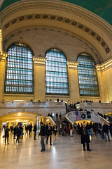 Grand Central Railway Station (MikePScott) Tags: arch architecturalfeatures buildings builtenvironment camera featureslandmarks grandcentralstation newyork newyorkcity nikon28300mmf3556 nikond800 railwaystation usa window unitedstatesofamerica