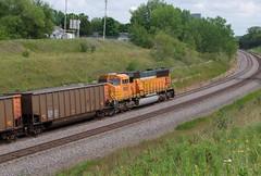 BNSF 8883 @ Lake Park (Matt Hagfors) Tags: electromotivedivision emd coal sd70mac h2 bnsf burlingtonnorthernsantafe