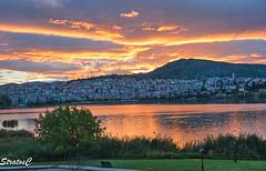 (Stratos28) Tags: kastoria westmacedonia greece tradition lake orestiada sunset dramatic sky clouds