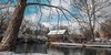 Cook's Old Mill with Snow (Bob G. Bell) Tags: cooksmill mill indiancreek creek pond trees snow weather clouds greenville wv westvirginia bobbell xt1 fujifilm reflection