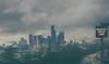 Motionless in Seattle (MontanaRoots (aka Craig)) Tags: seattle traffic stuck skyline rain gray