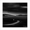 Hidden Gem XIX (Frank Hoogeboom) Tags: onderweg ijsland roadside iceland underway road highway roundway highway1 hills mountains slopes dark moody dramatic square monochrome blackandwhite bnw fineart landscape sky