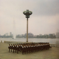 Polaroid of a North Korean military parade in front of Taedong river, Pyongan Province, Pyongyang, North Korea (Eric Lafforgue) Tags: 20 adults armedforces army armyparade armysoldier asia communism copyspace day dictator dictatorship dprk fulllenght groupofpeople koreanculture largegroupofpeople line menonly military militaryparade militaryuniform northkorea outdoors polaroid politicsandgovernment pyongyang soldiers squarepicture streetscene taedong taedongriver uniform uniforms pyonganprovince 北朝鮮 북한 朝鮮民主主義人民共和国 조선 coreadelnorte coréedunord coréiadonorte coreiadonorte 조선민주주의인민공화국 เกาหลีเหนือ קוריאההצפונית koreapółnocna koreautara kuzeykore nordkorea північнакорея севернакореја севернакорея severníkorea βόρειακορέα