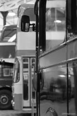 Buses (pfh2010) Tags: film blackwhite 35mm contax contaxn1 bury transport museum ilford delta 100