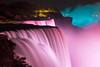 Rosarote Wasserfälle (Prinz Wilbert) Tags: new york state waterfall night nacht dask dämmerung illumination kanada canada usa wasserfall niagara skyline border grenze wasser water pink rosa blue hour blaue stunde newyorkstate langzeit