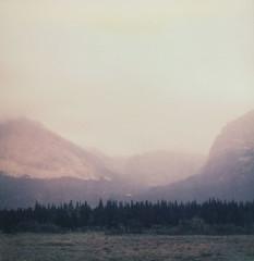 (sol exposure) Tags: glaciernationalpark montana polaroid 680 impossible px680cp expired