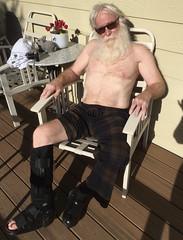 Enjoying The Warmth (outdoorPDK) Tags: shirtless