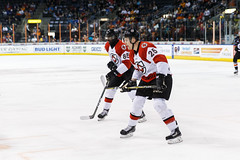 """Kansas City Mavericks vs. Cincinnati Cyclones, February 2, 2018, Silverstein Eye Centers Arena, Independence, Missouri.  Photo: © John Howe / Howe Creative Photography, all rights reserved 2018. • <a style=""""font-size:0.8em;"""" href=""""http://www.flickr.com/photos/134016632@N02/39407206044/"""" target=""""_blank"""">View on Flickr</a>"""
