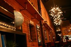 Pizza Co (sofiainspace) Tags: restaurant brick urban lights interior vintage