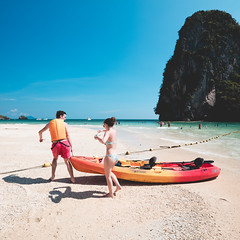 Beautiful tropical beach, Ao Phranang Krabi Thailand (Patrick Foto ;)) Tags: asia asian background bay beach beautiful beauty blue caribbean cloud coast coconut day dream holiday instagram island kayak krabi lagoon landscape limestone nature ocean outdoor paradise people plant railay relaxation resort sand sea seascape shore sky summer sun sunlight sunny thailand tourism tourist travel tree tropic tropical vacation vintage water wave tambonaonang changwatkrabi th