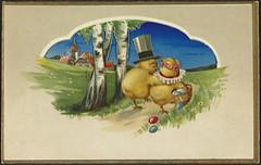 Påskekort (National Library of Norway) Tags: nasjonalbiblioteket nationallibraryofnorway postkort postcards påskekort påske easter eastercards høytider påskekyllinger easterchickens