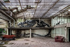 skeleton factor-0015 (Under The Dust) Tags: graffiti urbex arturbain skeleton squelette factory abandoned roa streetart