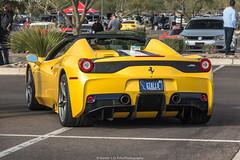 Giallo (Hunter J. G. Frim Photography) Tags: supercar arizona phoenix ferrari 458 speciale aperta yellow giallo triplo strato v8 convertible rare limited ferrari458 ferrari458speciale ferrari458specialeaperta