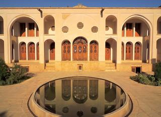 Beautiful Silk Road architecture at Kashan palace, Iran