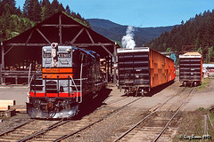 Delightful Dawson (C.P. Kirkie) Tags: willamettepacific willamettevalley wprr blackwidow gp9 emd dawson oregon freighttrain trains railroads timberindustry bentoncounty