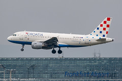 9A-CTG - 1997 build Airbus A319-112, on approach to Runway 25C at Frankfurt (egcc) Tags: 767 9actg a319 a319112 airbus ctn croatia croatiaairlines eddf fra frankfurt lightroom main ou rheinmain staralliance zadar