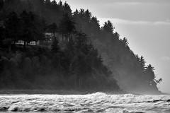 wAVES oF rEMINISCENCE 8 (wNG555) Tags: 2014 oregon seaside beach pacificcoast pacificocean bw fav25 fav50
