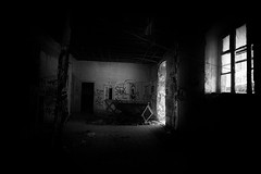 The haunted house #1/7 (ChrisRSouthland) Tags: hauntedhouse athens story nikond800 lowlight zeissdistagon21mmf28 monochrome bw blackandwhite building abandoned urbex