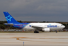 A310-3.C-GTSY-1 (Airliners) Tags: airtransat 310 a310 airbus airbus310 airbusa310 airbusa300300 welcome sticers fll cgtsy 12018 speciallivery specialcs
