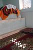 The Hazrat-i-Shah Sarcophagus (peterkelly) Tags: tajikistan istaravshan hazratishahmosquemausoleum sunlight sunlit sun light window sarcophagus carpet grave dead death mausoleum stone digital gadventures centralasiaadventurealmatytotashkent asia canon 6d