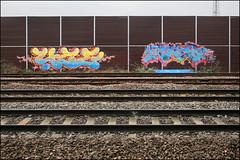 4ce / Enta (Alex Ellison) Tags: enta 4ce force northwestlondon trackside railway urban graffiti graff boobs