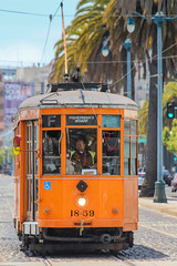 Old trolley in San Francisco (Oleg S .) Tags: tram california usa yellow sanfrancisco vehicle