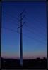 Dictated (VegasBnR) Tags: nikon 7200 sigma city telegragh power powerlines powerpole sunset gimp blue tuesday vegas vegasbnr lasvegas