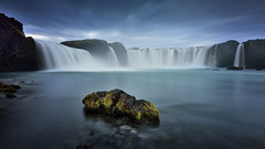 Gods waterfall (FredConcha) Tags: godswaterfall waterfall iceland rock river longexposure landscape nature godafoss nikon d800 fredconcha 1335 clouds
