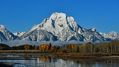 Mount Moran, autumn foliage (Cape Arago Photographer) Tags: tetons wyoming mtmoran foliage rockies