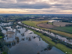 The flood... (Kerriemeister) Tags: fulford york flood flooding river ouse ings drone mavicpro aerial dgi