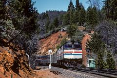 Amtrak; Towle CA; 7/1991 (Railroad Photographer) Tags: alta california unitedstates us trains railroads railroad train railway