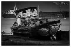 Sadly watching a healthy one! (timgoodacre) Tags: boat boating seaboard boats water sea seaside wreck shipwreck blackwhite