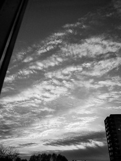 Sunset Saturday Afternoon BW