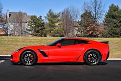 Cray Spider on Chevolet C7 Corvette Z06 - 3 (tswalloywheels1) Tags: cray corvette aftermarket wheels wheel rim rims alloy alloys staggered monoblock concave split 5 spoke matte black red c7 stingray z06 zr1 z51 chevy vette